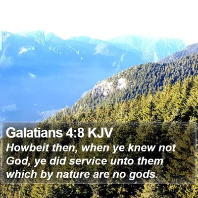 Galatians 4:8 KJV Bible Verse Image