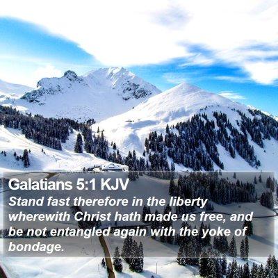 Galatians 5:1 KJV Bible Verse Image