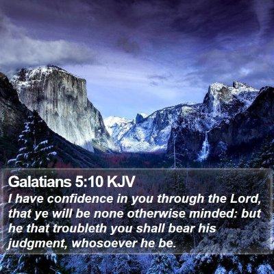 Galatians 5:10 KJV Bible Verse Image