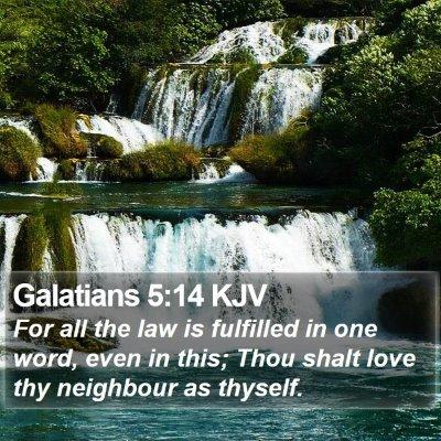 Galatians 5:14 KJV Bible Verse Image