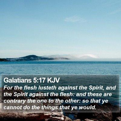 Galatians 5:17 KJV Bible Verse Image