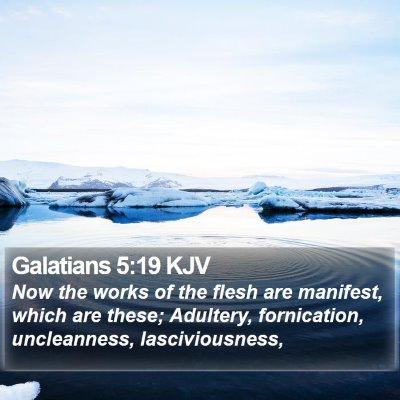 Galatians 5:19 KJV Bible Verse Image