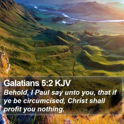 Galatians 5:2 KJV Bible Verse Image