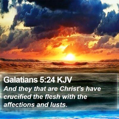 Galatians 5:24 KJV Bible Verse Image