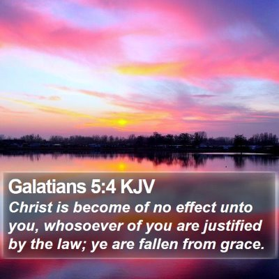 Galatians 5:4 KJV Bible Verse Image