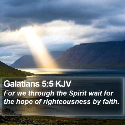 Galatians 5:5 KJV Bible Verse Image