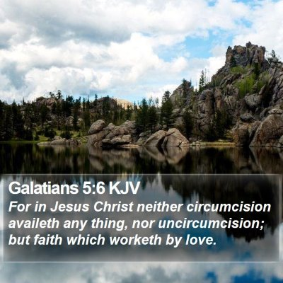 Galatians 5:6 KJV Bible Verse Image