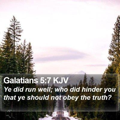 Galatians 5:7 KJV Bible Verse Image