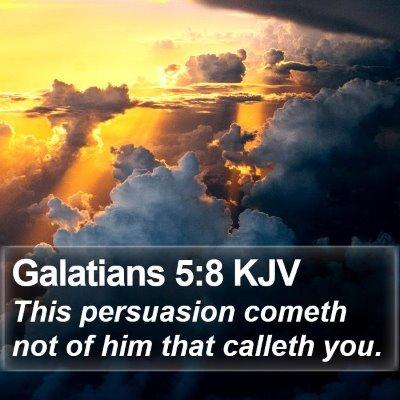 Galatians 5:8 KJV Bible Verse Image