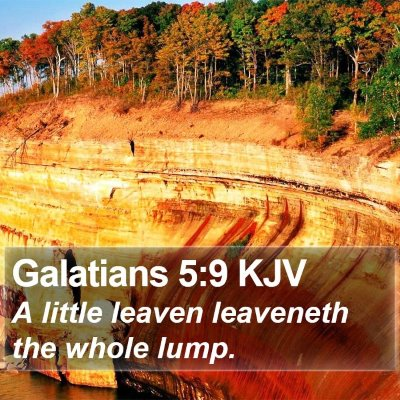 Galatians 5:9 KJV Bible Verse Image