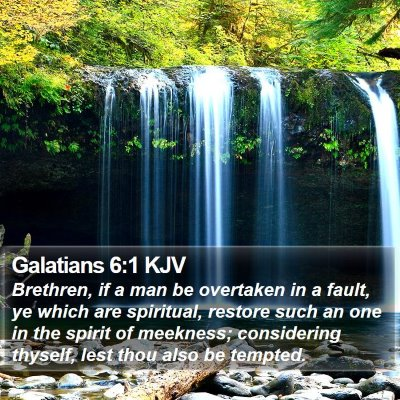 Galatians 6:1 KJV Bible Verse Image