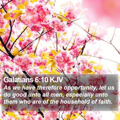 Galatians 6:10 KJV Bible Verse Image