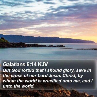 Galatians 6:14 KJV Bible Verse Image