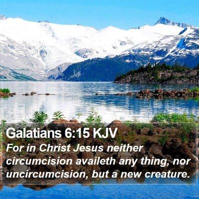 Galatians 6:15 KJV Bible Verse Image