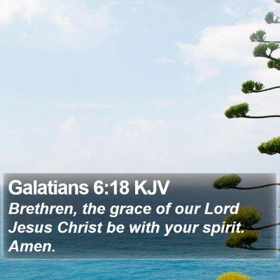 Galatians 6:18 KJV Bible Verse Image