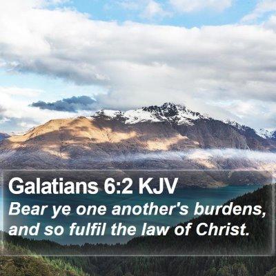Galatians 6:2 KJV Bible Verse Image