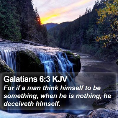 Galatians 6:3 KJV Bible Verse Image