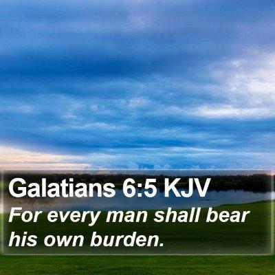 Galatians 6:5 KJV Bible Verse Image
