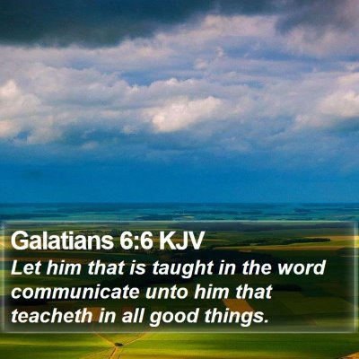 Galatians 6:6 KJV Bible Verse Image