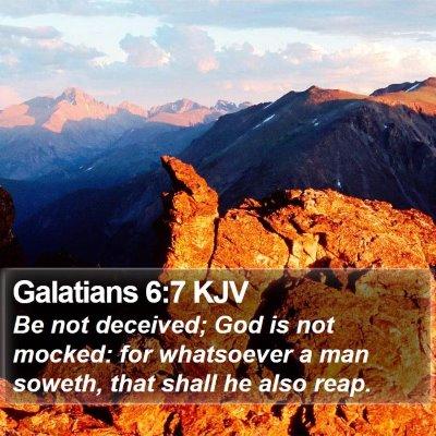 Galatians 6:7 KJV Bible Verse Image