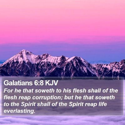 Galatians 6:8 KJV Bible Verse Image