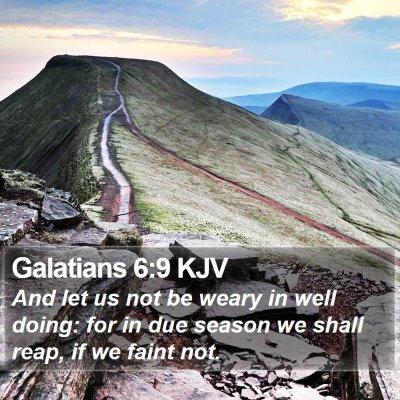 Galatians 6:9 KJV Bible Verse Image