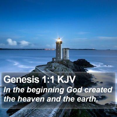 Genesis 1:1 KJV Bible Verse Image