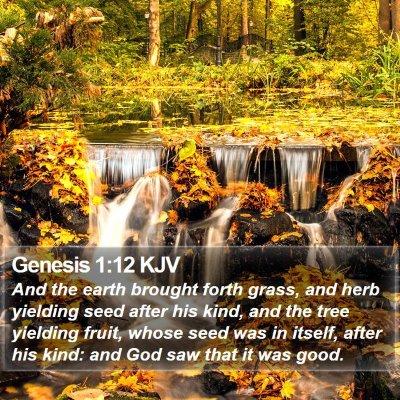 Genesis 1:12 KJV Bible Verse Image