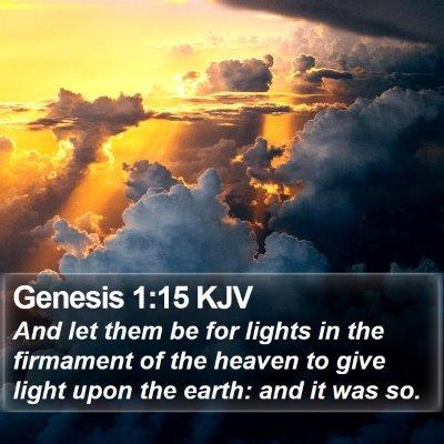 Genesis 1:15 KJV Bible Verse Image