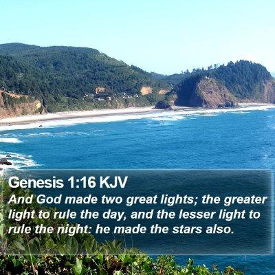 Genesis 1:16 KJV Bible Verse Image