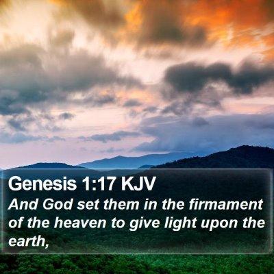 Genesis 1:17 KJV Bible Verse Image