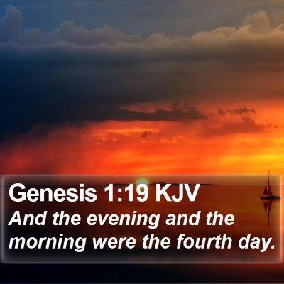 Genesis 1:19 KJV Bible Verse Image