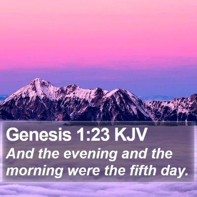 Genesis 1:23 KJV Bible Verse Image