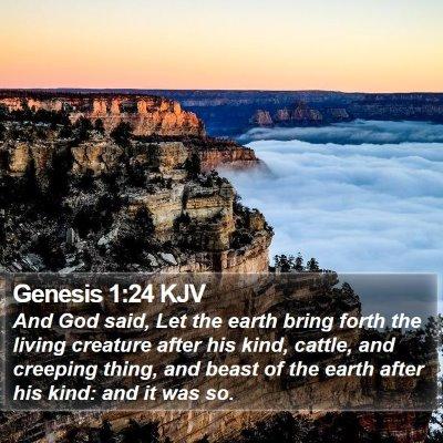 Genesis 1:24 KJV Bible Verse Image