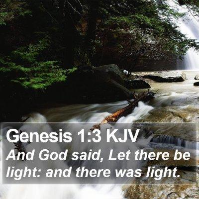 Genesis 1:3 KJV Bible Verse Image