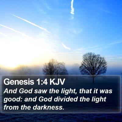 Genesis 1:4 KJV Bible Verse Image
