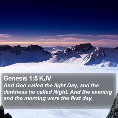 Genesis 1:5 KJV Bible Verse Image