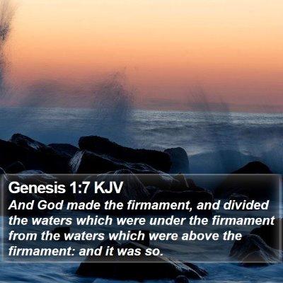 Genesis 1:7 KJV Bible Verse Image