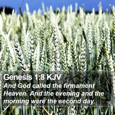 Genesis 1:8 KJV Bible Verse Image