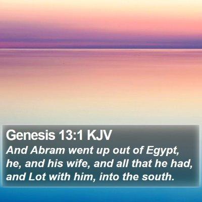 Genesis 13:1 KJV Bible Verse Image