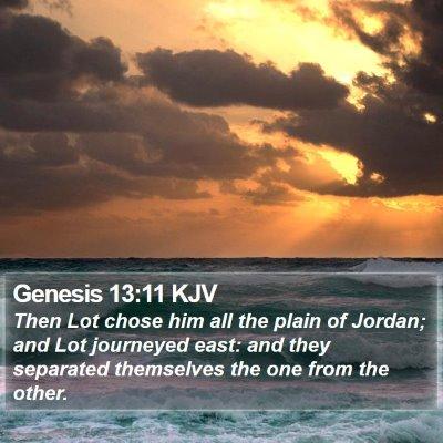 Genesis 13:11 KJV Bible Verse Image