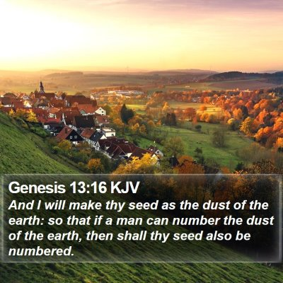 Genesis 13:16 KJV Bible Verse Image