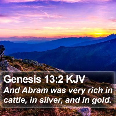 Genesis 13:2 KJV Bible Verse Image