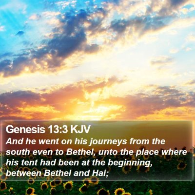 Genesis 13:3 KJV Bible Verse Image