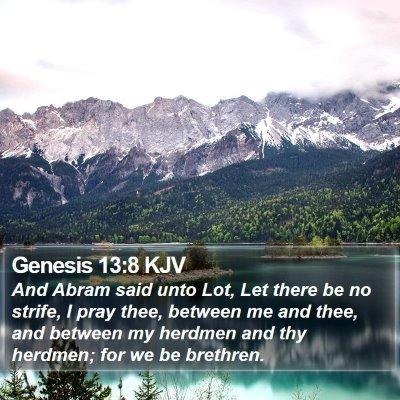 Genesis 13:8 KJV Bible Verse Image