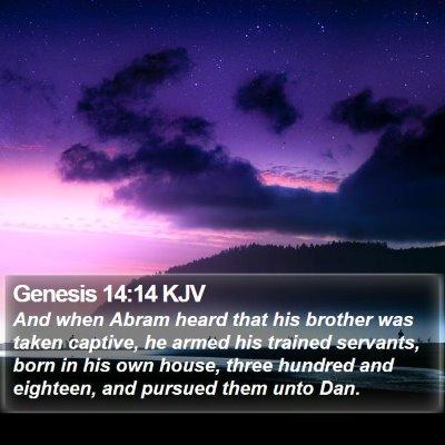 Genesis 14:14 KJV Bible Verse Image