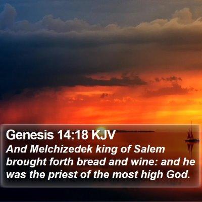 Genesis 14:18 KJV Bible Verse Image