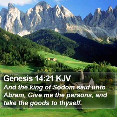 Genesis 14:21 KJV Bible Verse Image