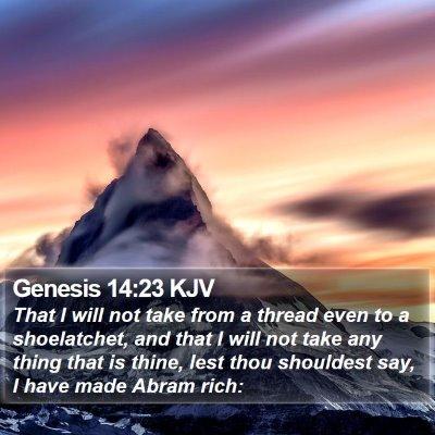 Genesis 14:23 KJV Bible Verse Image