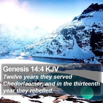 Genesis 14:4 KJV Bible Verse Image